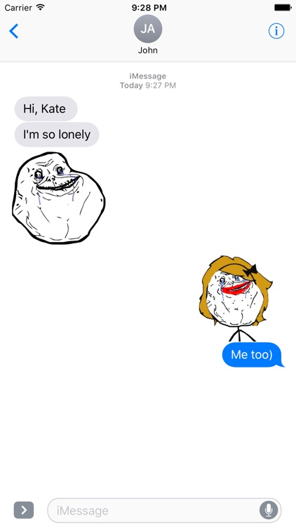 Memes - Rage Comic Stickers for iMessage screenshot-3