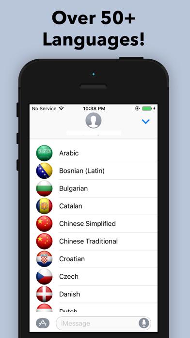Speech and Text Translator for iMessage Screenshot