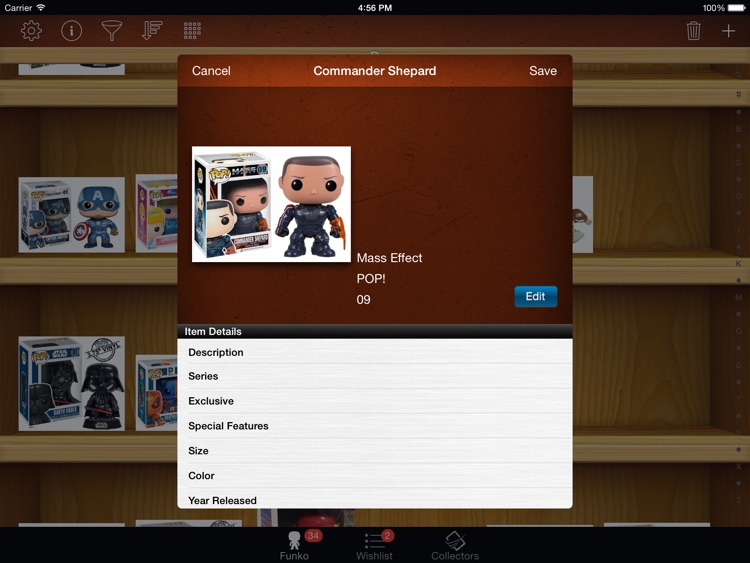 Vinyl Figure Toy Collector Manager - iPad version screenshot-3