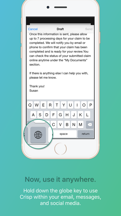 Crisp Email Template Keyboardのおすすめ画像4