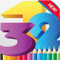 Coloring Book: 123 Write Learn English Number Page
