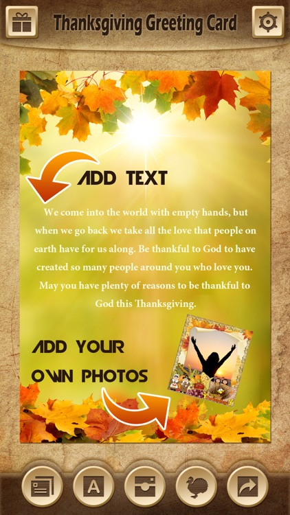 Holiday Greeting Cards FREE - Mail Thank You eCards & Send Wishes for American Thanksgiving Day screenshot-3