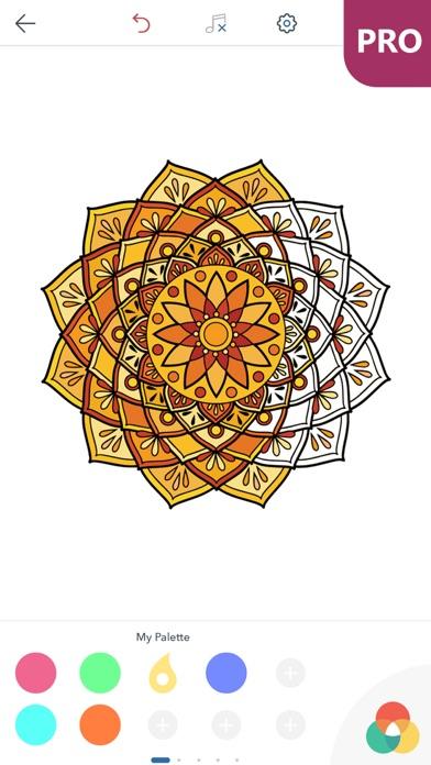 マンダラ塗り絵 無料 PRO : おとなのぬりえ 本 - 曼荼羅 塗り絵 塗り絵アプリのおすすめ画像5