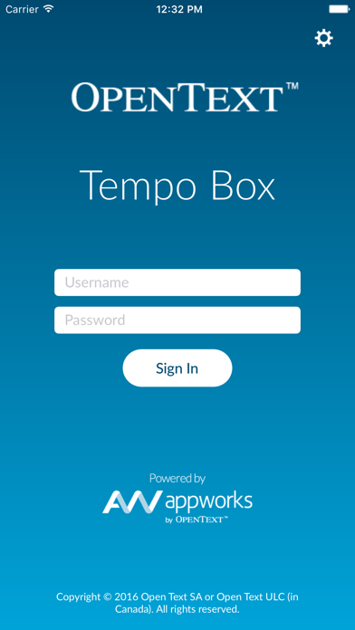 OpenText Tempo Box 16 screenshot one