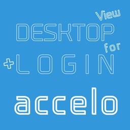 DESKTOP VIEW + LOGIN for accelo