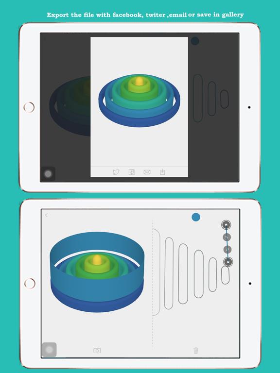 3D Shape Creator: 3D Revolved Modelling App Screenshots