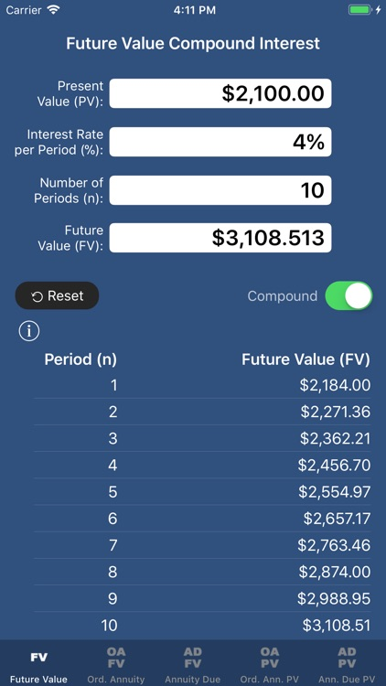 SuperFVCalc: FV, PV, Annuities screenshot-0