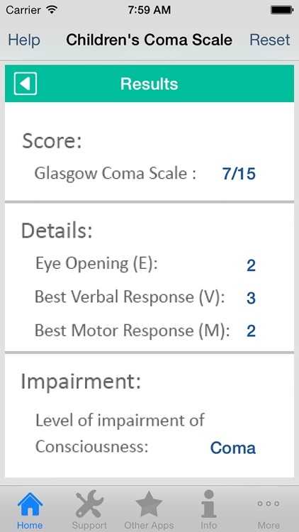 Children's Coma Scale