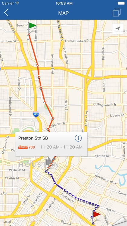 ezRide Houston METRO - Transit Directions for Bus and Light Rail including Offline Planner screenshot-3