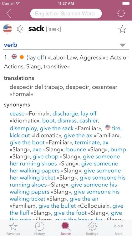 Spanish Slang Dictionary screenshot-3