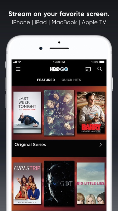 Screenshot 2 for HBO GO's iPhone app'