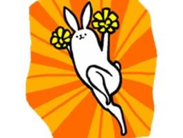 Weird Long Leg Rabbit - Stickers for iMessage