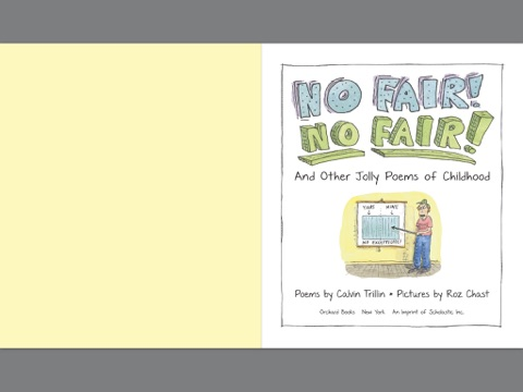 No Fair No Fair And Other Jolly Poems Of Childhood By Calvin