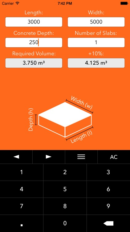 Concrete Help – Hole + Slab Volume Calculator