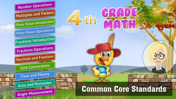 Grade 4 Math Common Core: Cool Kids' Learning Game screenshot-0