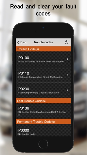 eobd facile car diagnostic on the app store. Black Bedroom Furniture Sets. Home Design Ideas