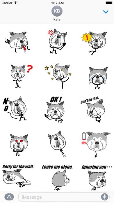 Funny Stick Dog Emoji Sticker screenshot 1