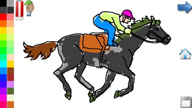 Kleurplaten Paarden In Galop.Kleurplaten Van Paarden Pony In De App Store