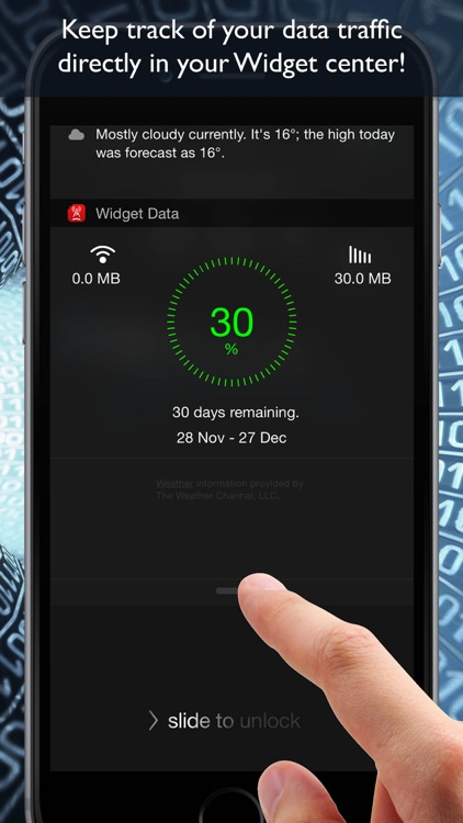 Widget Data Cellular ( monitor data usage )