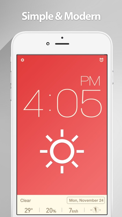 Red Clock - The Minimal Alarm Clock screenshot-0