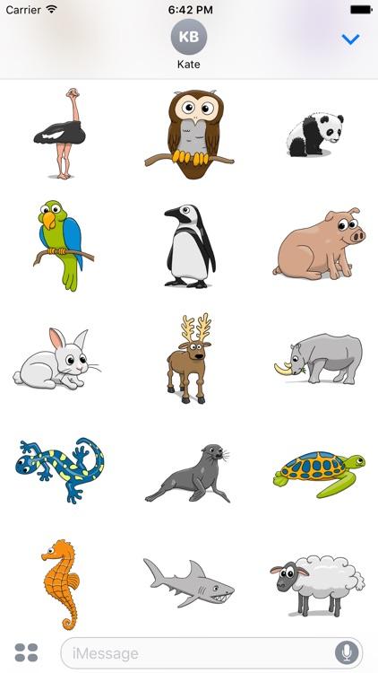 Stickertoons Zoo – Animal stickers for iMessage screenshot-3