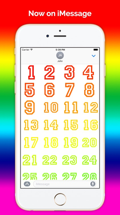 Digits - Number stickers for iMessage