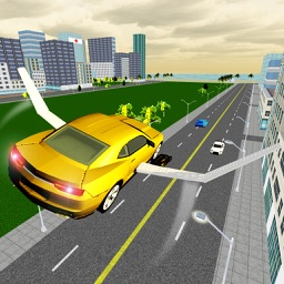 Flying Futuristic Car Mania 3D - Extreme Super Jet Sports Car Air Stunts