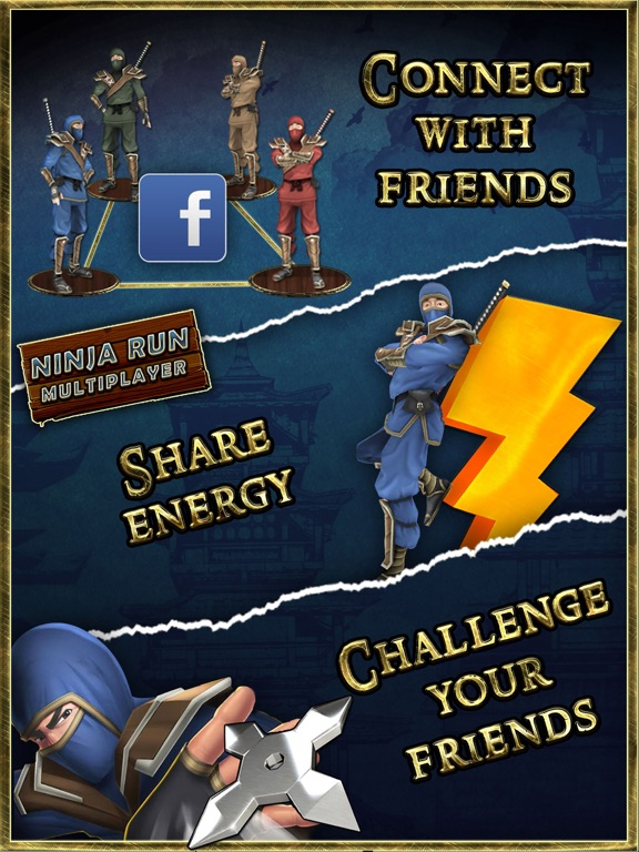 Ninja Run Multiplayer 3D Mega Battle Runner for Boys and Kids screenshot