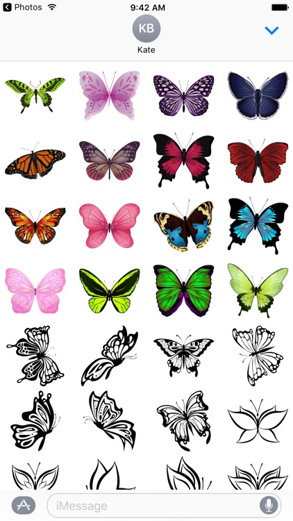 Beautiful Butterfly Sticker Pack screenshot-3