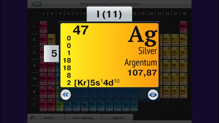 OC3. Mendeleev's Periodic Table of the Elements screenshot-3