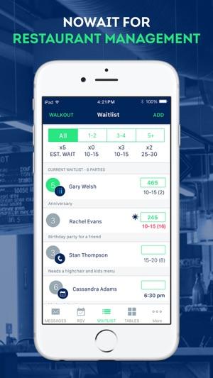 nowait restaurant management on the app store