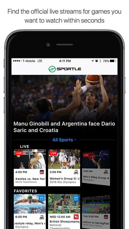 Sportle・Live Sports Streams & Scores screenshot-0