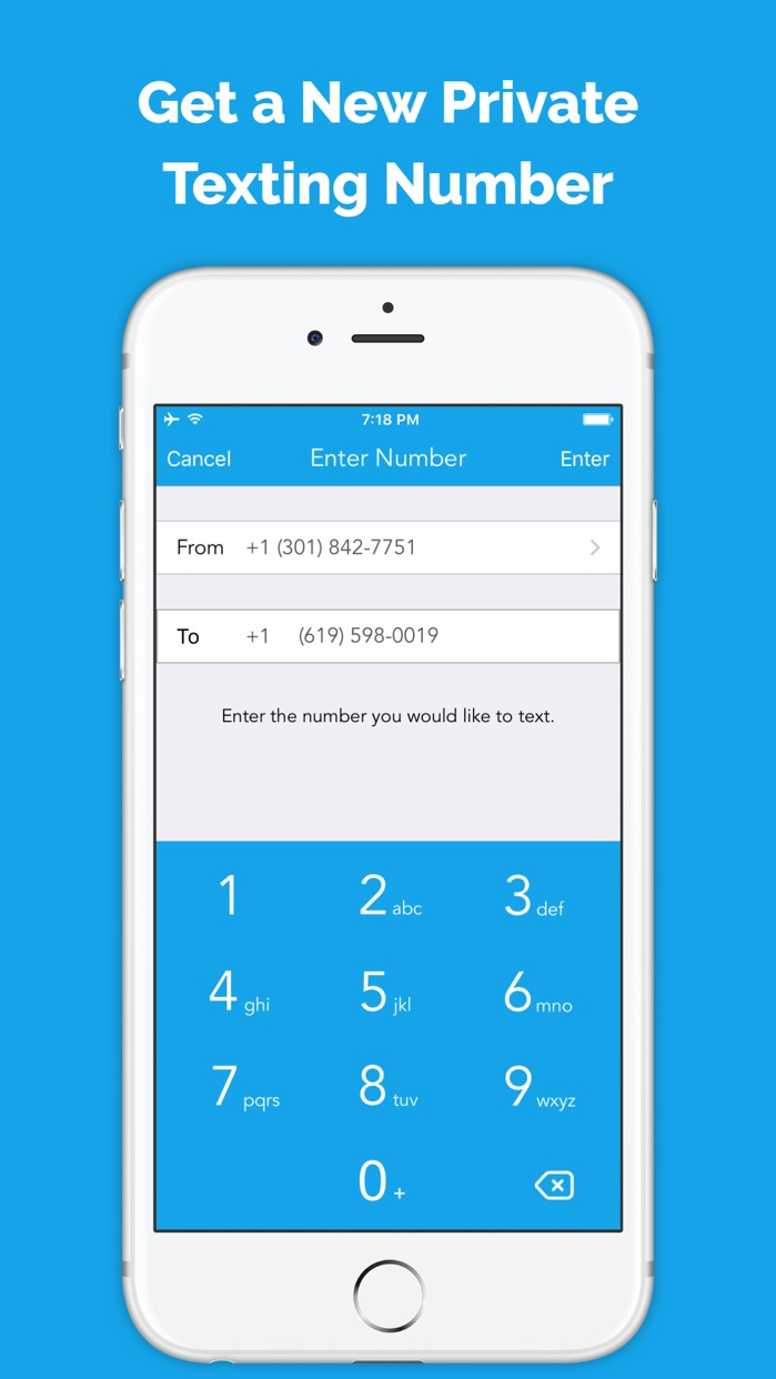 Private Texting by Anonymous Free Burner Phone App Screenshot