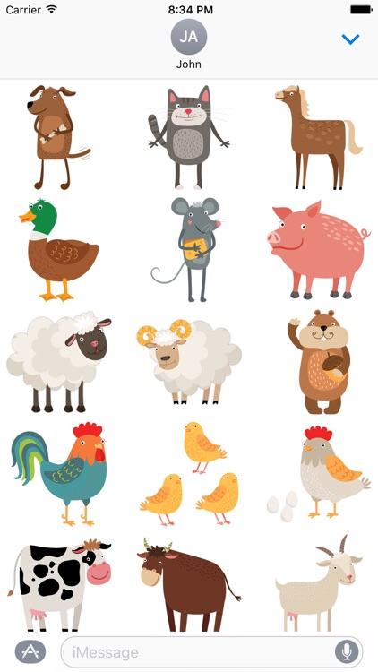 Farm Animal Stickers by Kristian Stobbe