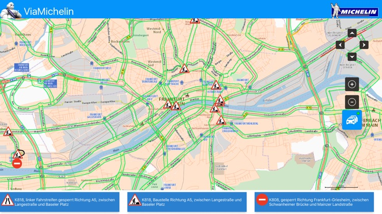 ViaMichelin : Map - Traffic