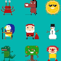 200 Pixel Art Stickers for iMessage