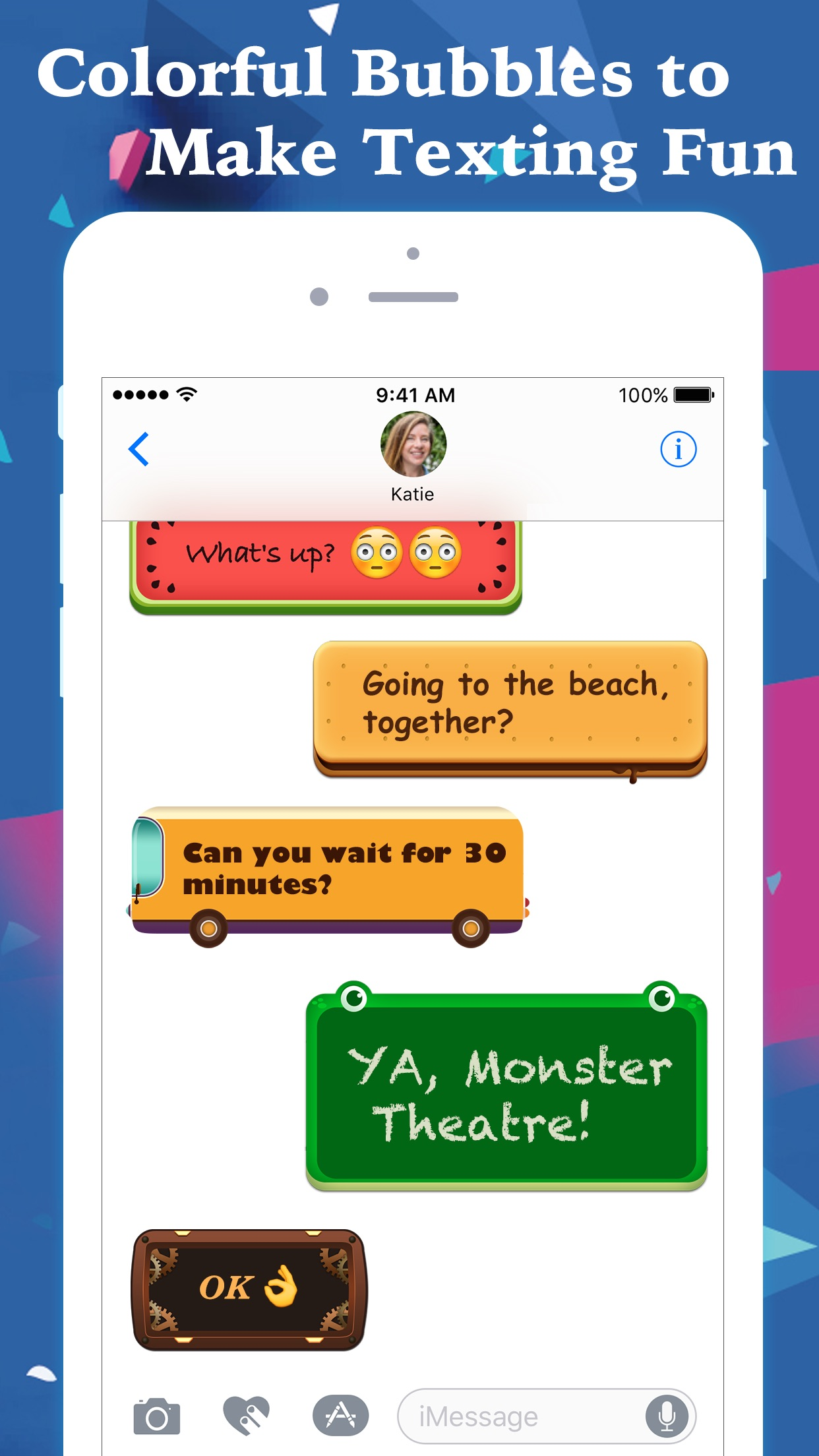 FancyBubble - Text and Emoji Themes for iMessage Screenshot
