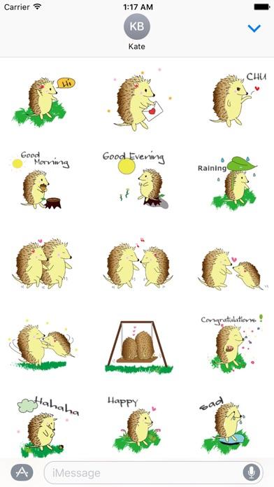 Happy Life Of Hedgehog Sticker screenshot 1