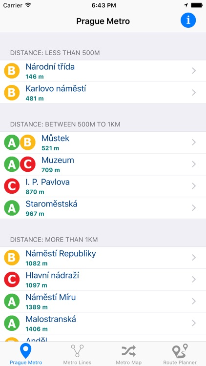 Prague Metro screenshot-0