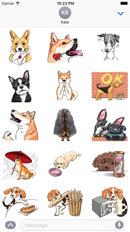 P.S. I Love Dogs - Dog Stickers
