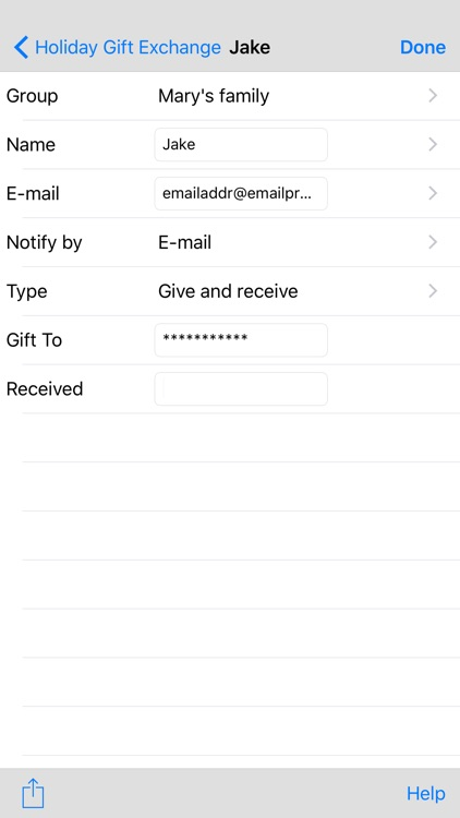 Gift Exchange Lite