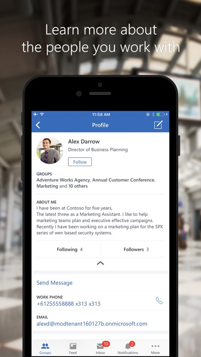 Yammer screenshot four
