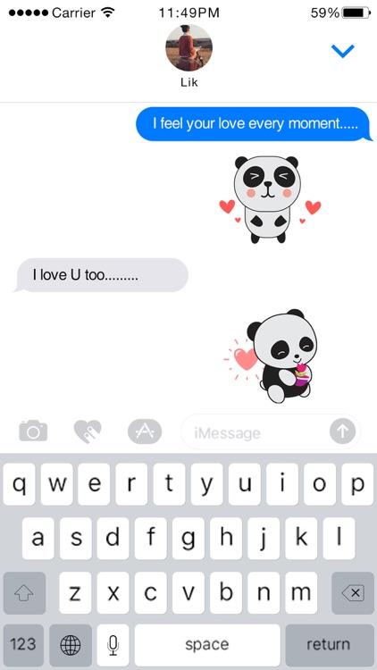 PandaMoji - Panda Stickers for iMessage