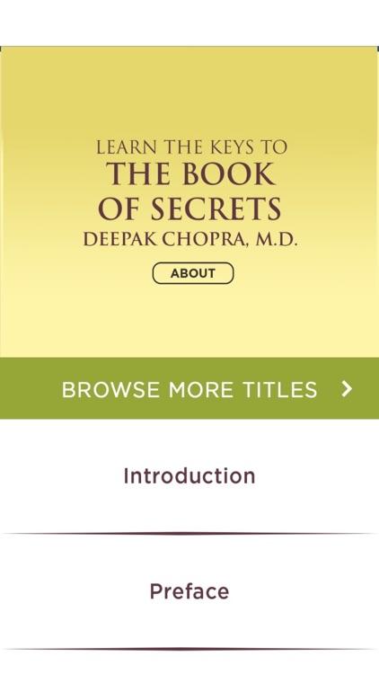 The Book of Secrets Meditations -for Deepak Chopra