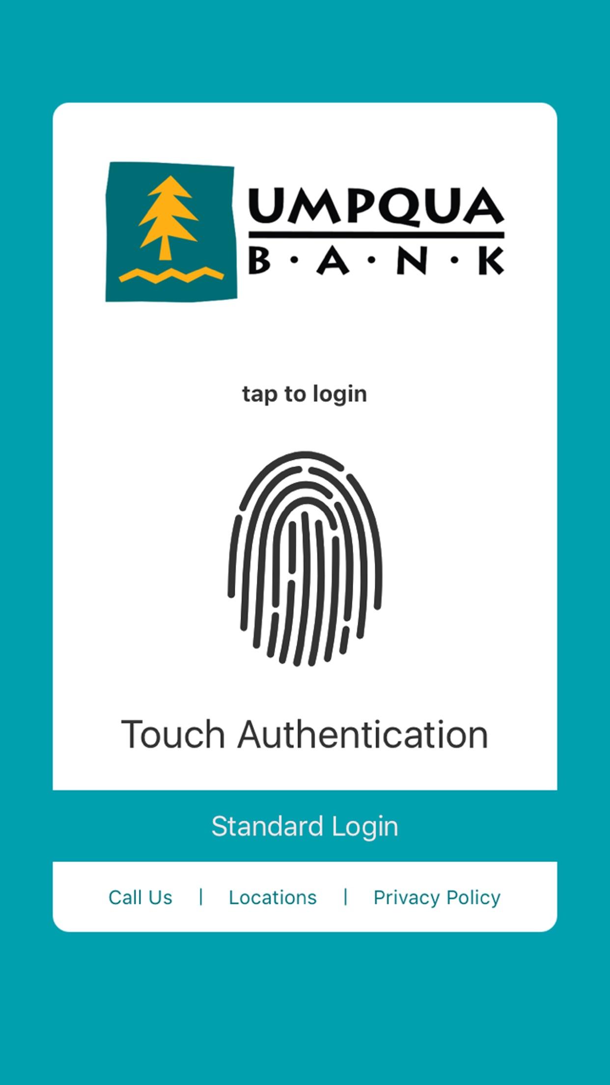 Umpqua Bank Mobile Banking Screenshot