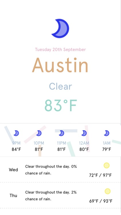 Minim - A minimal weather app