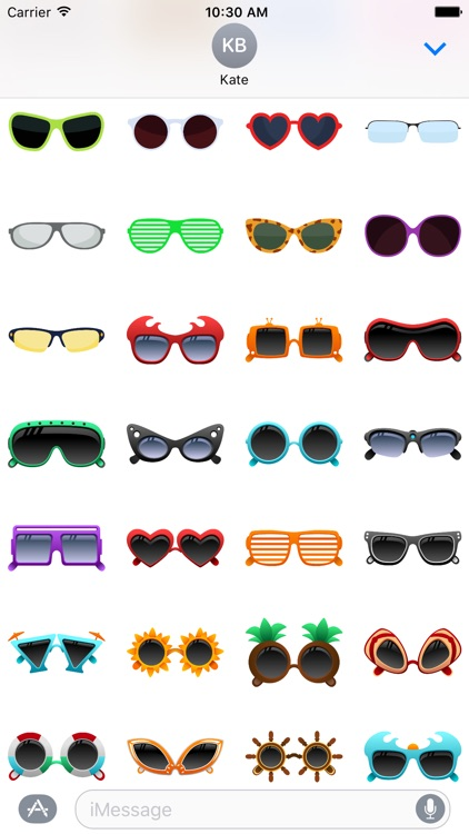 Sunglasses Stickers for iMessage