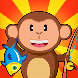 Monkey Fishing Catch Big Fish Game For Kids