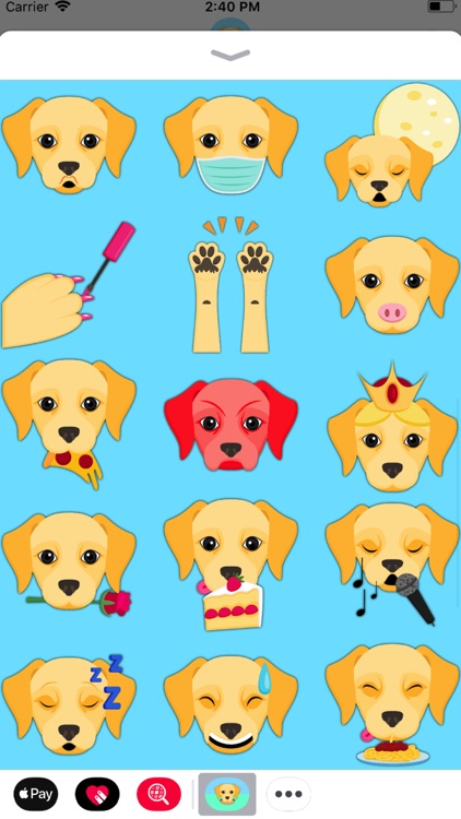 Yellow Labrador Emoji screenshot-2