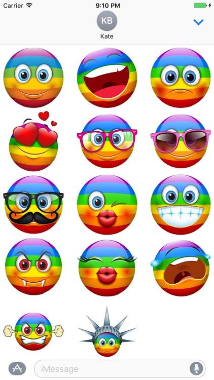 Rainbow Smileys Stickers